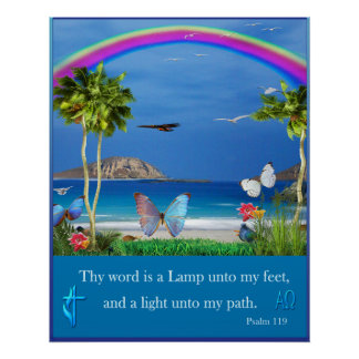 Psalm 119 scripture poster