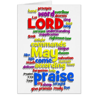 Psalm 119 Taw White Greeting Cards