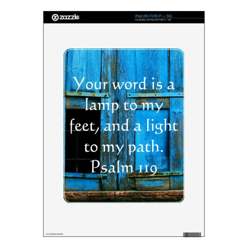 Psalm 119 Your word is a lamp to my feet Decal For iPad