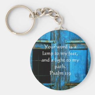 Psalm 119 Your word is a lamp to my feet Basic Round Button Keychain