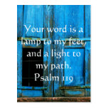 Psalm 119 Your word is a lamp to my feet Postcard