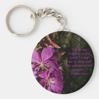 Psalm 120:1 Encouraging Bible Verse Key Chain
