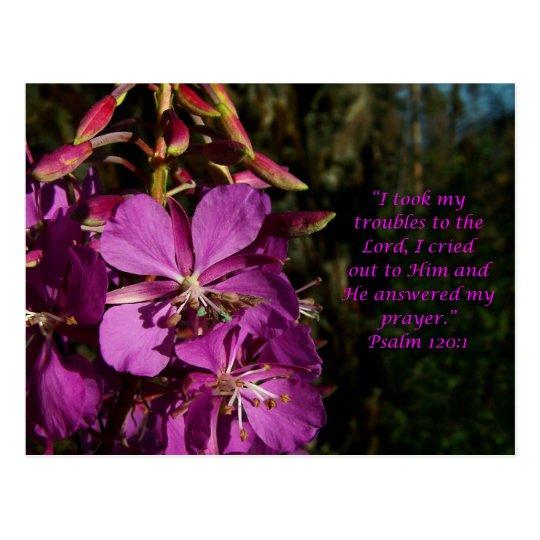 Psalm 120:1 Psalm of Encouragement Postcard
