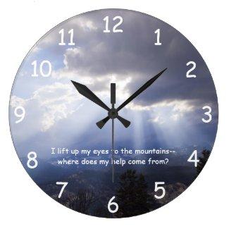 Psalm 121 Wall Clock