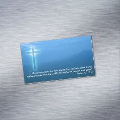 Psalm 121; 1-2 Business Card Magnet at Zazzle