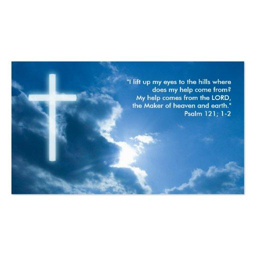 Psalm 121; 1-2 - Christian Business Card   Zazzle