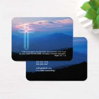 Psalm 121; 1-2 - Christian Business Card