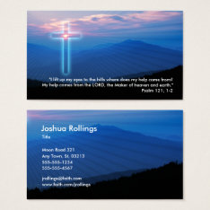 Psalm 121; 1-2 | Christian Business Card at Zazzle
