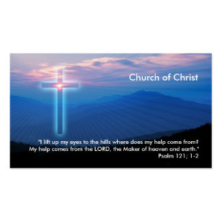 Psalm 121; 1-2 | Christian Double-Sided Standard Business Cards (Pack Of 100)