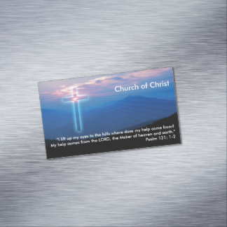Psalm 121; 1-2 magnetic business card