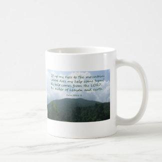 Psalm 121 1-2 coffee mugs