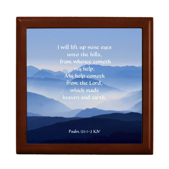 Psalm 121:1-2 My help cometh from the LORD Jewelry Box