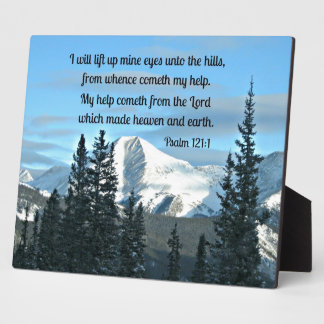 Psalm 121:1 I will lift up mine eyes... Display Plaque