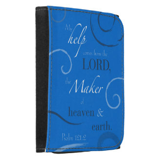 Psalm 121:2  - Choose you own color, Customizable Leather Trifold Wallet