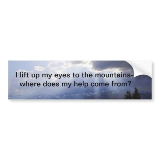 Psalm 121 bumper stickers