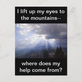 Psalm 121 postcard