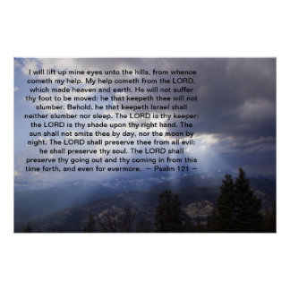 Psalm 121 print