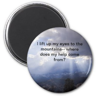 Psalm 121 refrigerator magnets