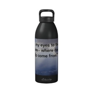Psalm 121 water bottle