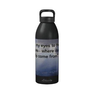 Psalm 121 water bottle