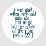 Psalm 122:1 stickers