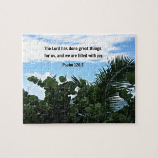 Psalm 126:3 The Lord has done great things... Jigsaw Puzzle