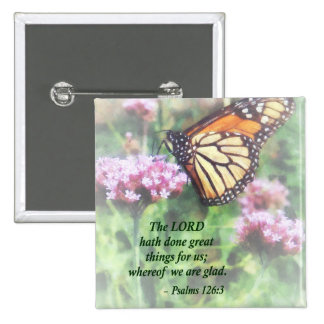 Psalm 126 3 The LORD hath done great things Button