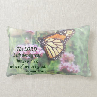 Psalm 126 3 The LORD hath done great things Lumbar Pillow