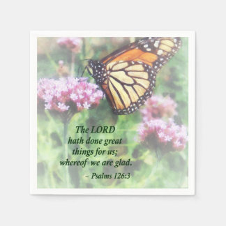 Psalm 126 3 The LORD hath done great things Napkin