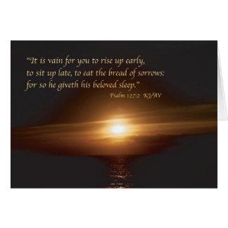Psalm 127:2 Card