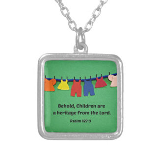 Psalm 127:3 Behold, Children are a heritage... Custom Necklace