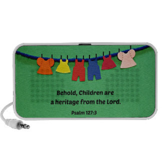 Psalm 127:3 Behold, Children are a heritage... Notebook Speaker