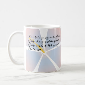 Psalm 127:3 Pink and Blue Hibiscus Mug Bible Verse