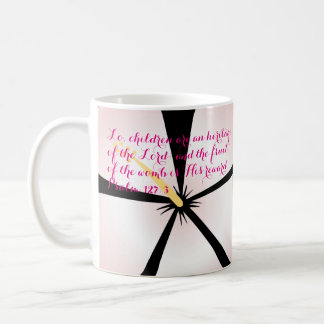 Psalm 127:3 Pink Hibiscus Bible Verse Mug