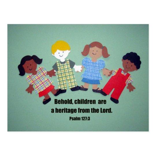 Psalm 127:3 postcard