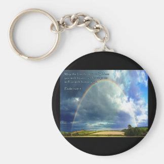 Psalm 128:5 Full Rainbow Keychain