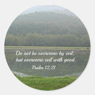 Psalm 12:21 round sticker