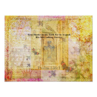 Psalm 136 1 Give thanks to the Lord ART Print