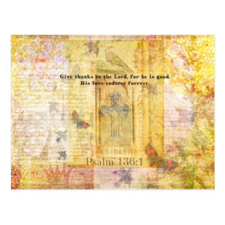 Psalm 136:1 Give thanks to the Lord Postcard