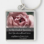 Psalm 136:26 key chain