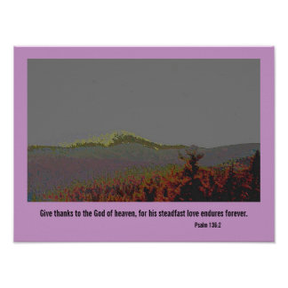Psalm 136 2 give thanks posters