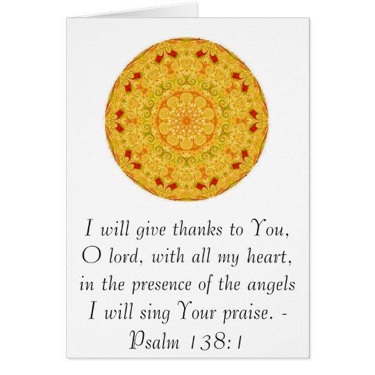 Psalm 138:1 card