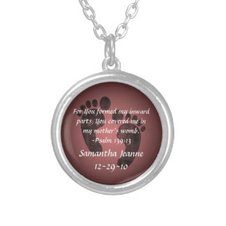 Psalm 139:13 Christian Baby Personalized Pendant