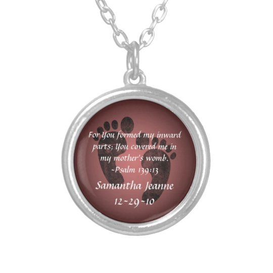 Psalm 139:13 Christian Baby Personalized Pendant