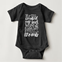 Psalm 139:13 For you created my inmost being Baby Bodysuit