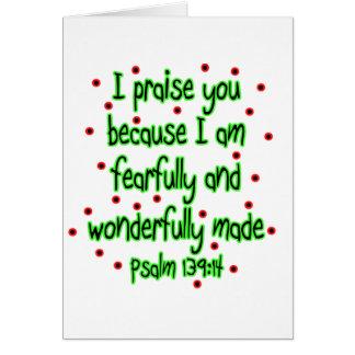 Psalm 139:14 card