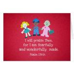 Psalm 139:14 greeting card