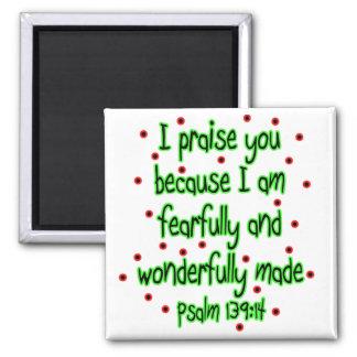 Psalm 139:14 refrigerator magnets