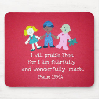 Psalm 139:14 mouse pad