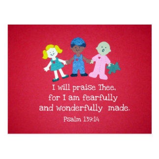 Psalm 139 14 post card